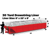 30 yard Drawstring Dumpster Liners