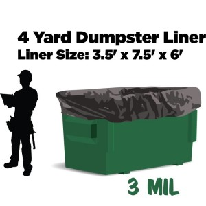 4 Yard Dumpster Liners