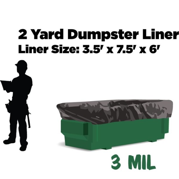 2 Yard Dumpster Liners