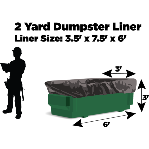 2 Yard Dumpster Liners - 3 Mil Thickness