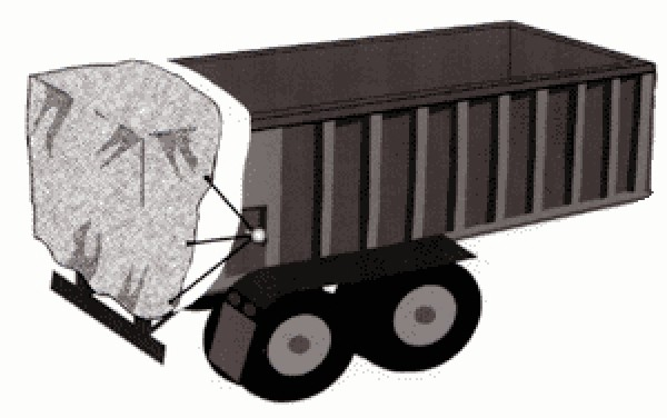 Spill Diapers for Dump Trailers